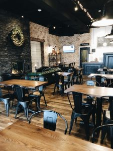 lancaster cafe dining area with modern tables and chairs