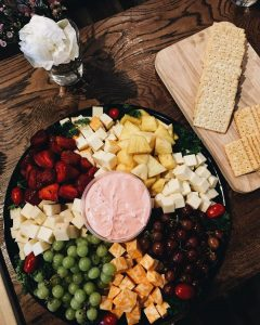 fruit and cheese platter at a private event space available for rent in pa