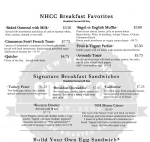 new holland coffee shop food and coffee menu