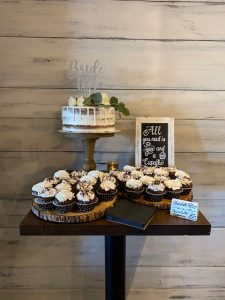 cake and cupcake stand display in a lancaster pa small event venue
